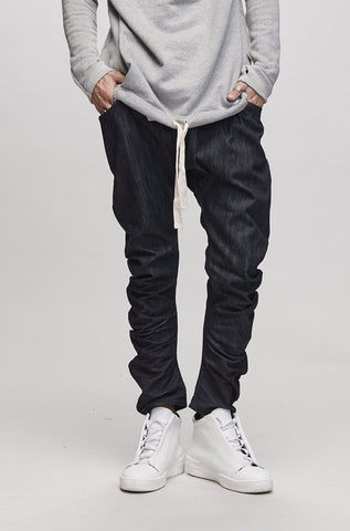 BENT LEG TROUSER - DENIM