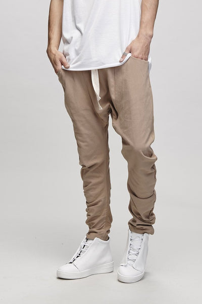 BENT LEG TROUSER - CAMEL