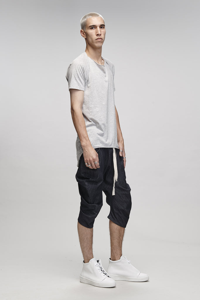 BENT LEG SHORTS - DENIM