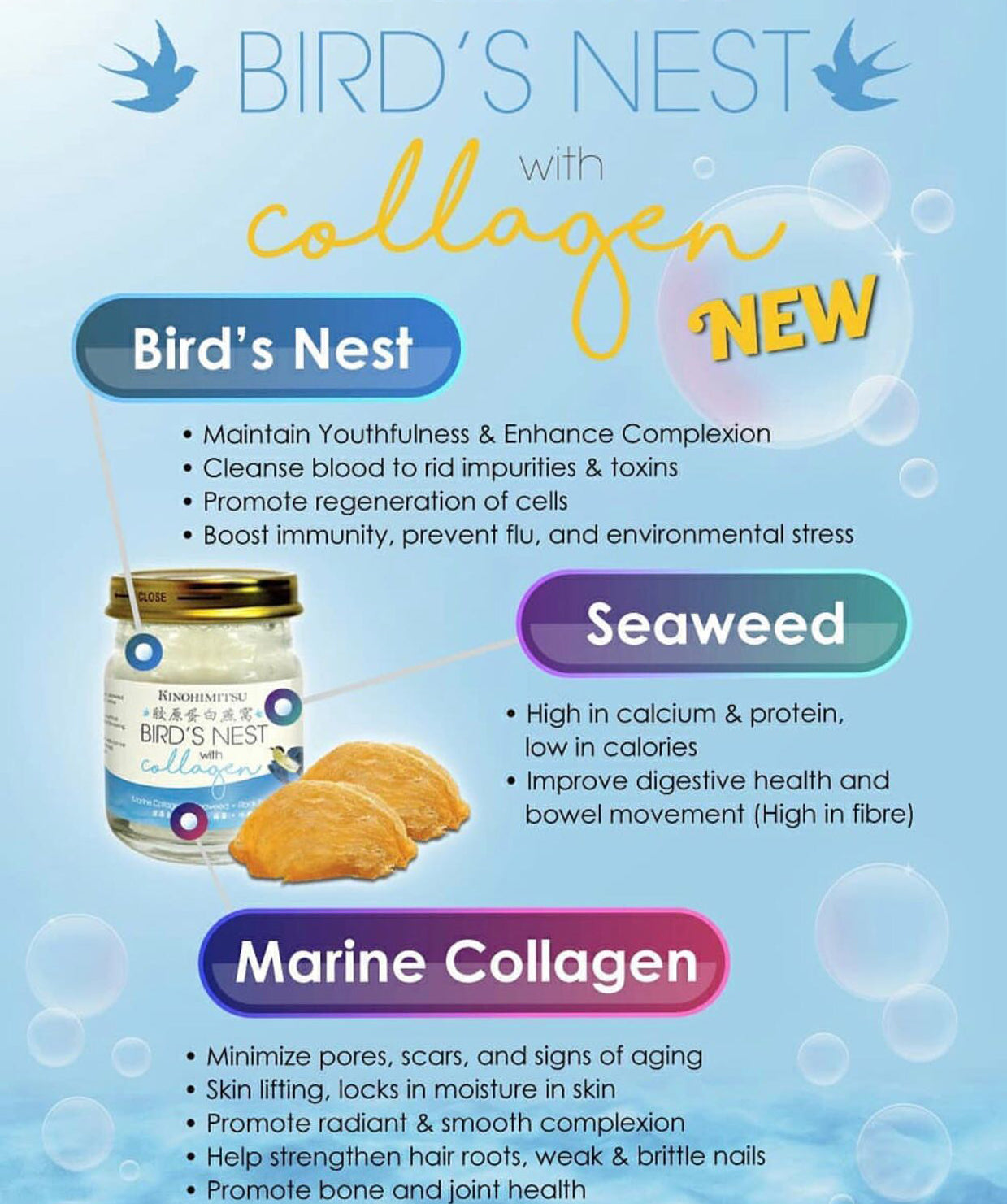 Bird Nest with Collagen