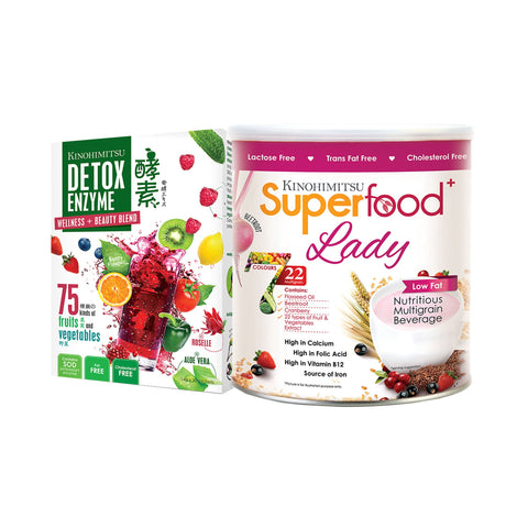 Superfood⁺ Lady 500g + Detox Enzyme 30's