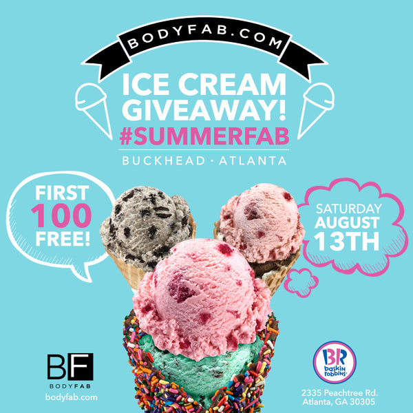 BodyFab Free Ice Cream Giveaway!