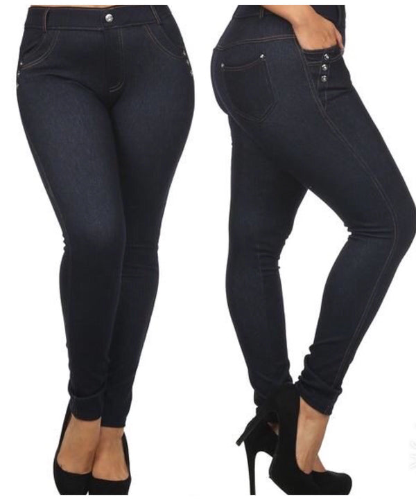 High Waist Fashion Jeggings