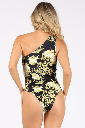 Regal Print Mono sleeve Swimsuit