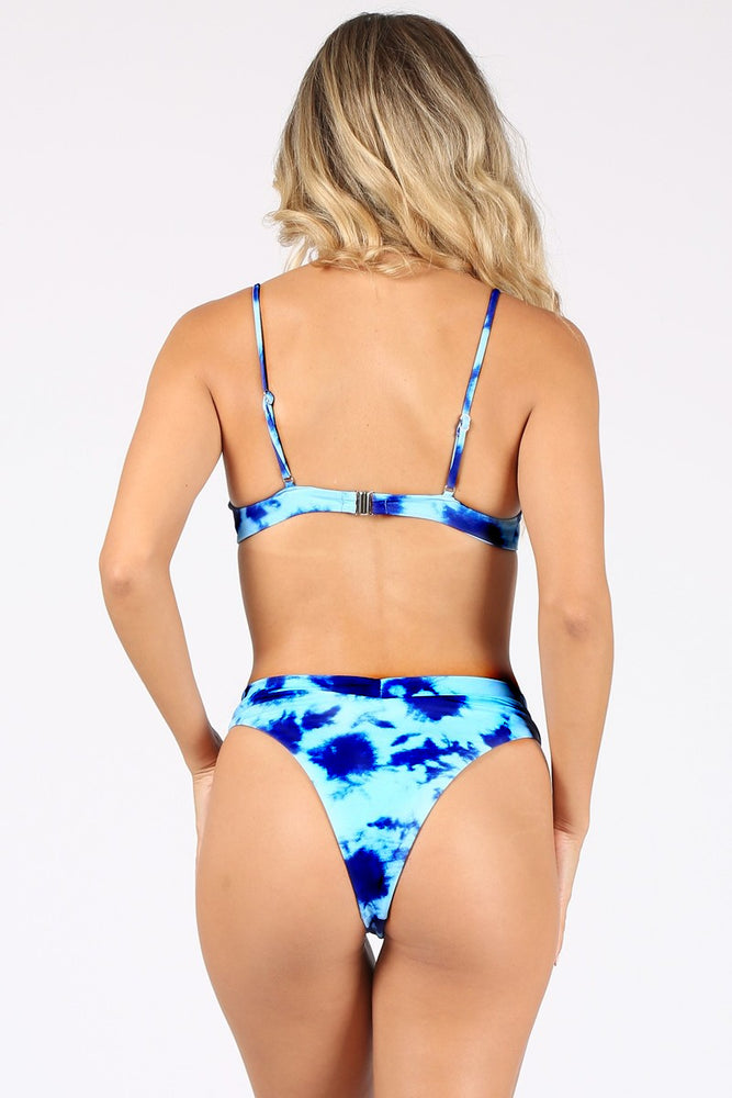 Load image into Gallery viewer, Blue tie dye Bikini Set