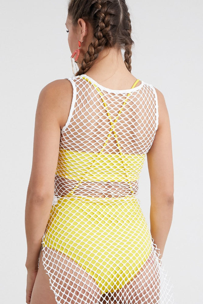 Sexy Hot Solid Color Grid Flash Drill Swimsuit Cover Ups