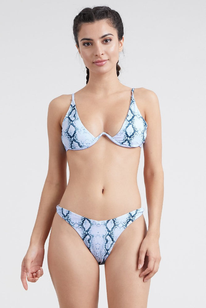 Snake Print underwire two piece bikini set