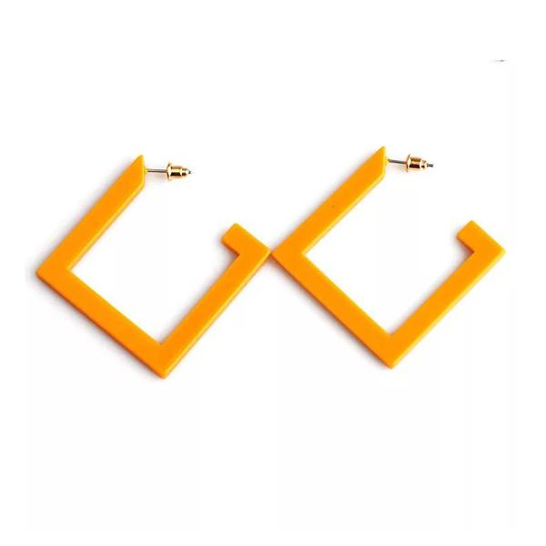 Yellow Acrylic Earring