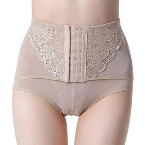 Double Compression Low Waist Brief Nude