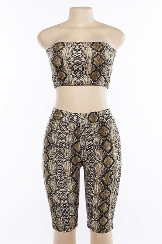 Python Print Biker Shorts And Crop S Clothing
