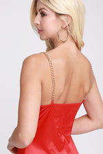 Chain Strap Hollow Out Bodysuit