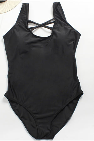 Load image into Gallery viewer, Black One Piece Swimsuit