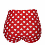 Red Polka High Waist Bikini Set