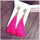 Tassle Crown Earrings Pink