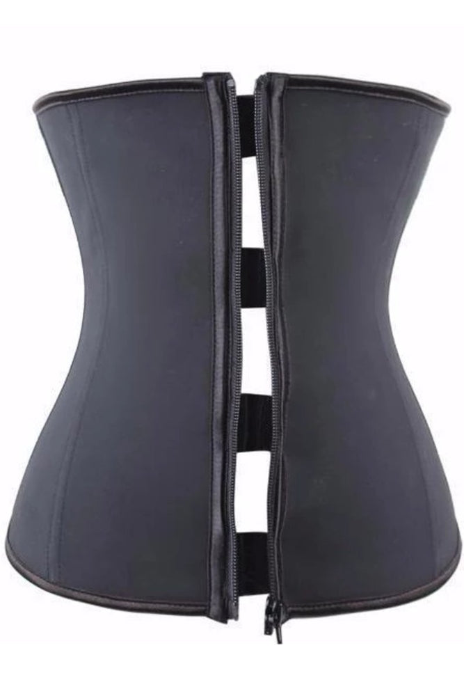 Zip Up Waist Trainer Latex Vest