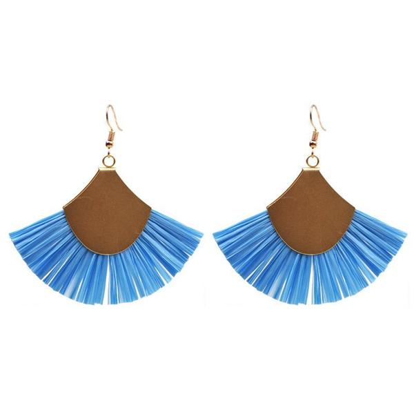 Raffia Fashion Earrings
