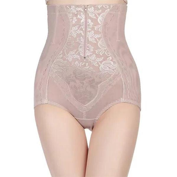 High waist zip up compression Briefs