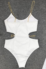 Chain Strap One Piece Swimsuit Swimwear
