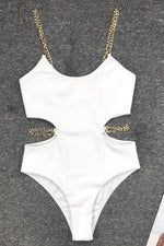 Chain Strap One Piece Swimsuit