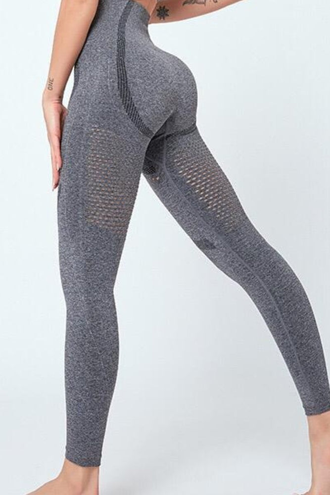 High Waist Under Butt Shaping perforated Yoga Pants Leggings