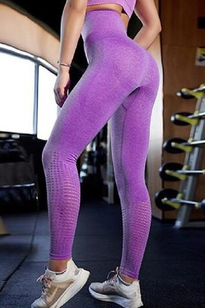 High Waist Power Perforated Yoga Pants Leggings