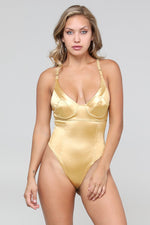 Solid Color Molded Cup Underwire Bodysuit