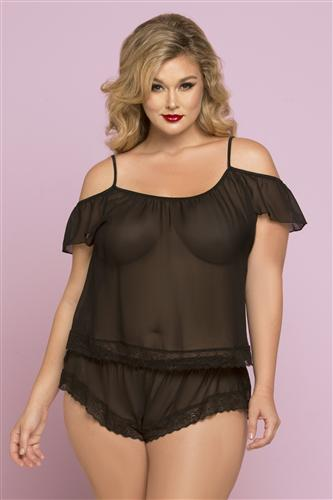 Off Shoulder Sheer Set