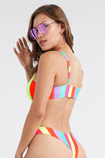 Multi Color Two Piece Bikini Swimwear