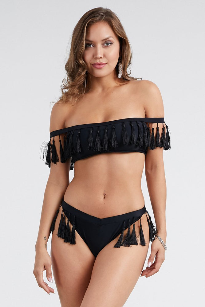 Tassle Top Bikini Set Swimsuit