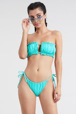 Ruched Bandeau Two Piece Swimsuit Set
