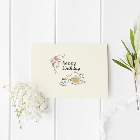 Tea Ave Card - Happy Birthday