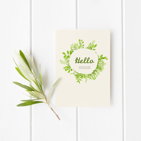 Tea Ave Card - Hello