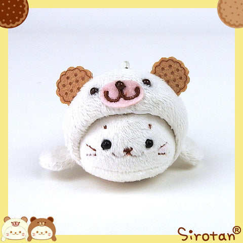 Sirotan Keychain - White Cookie Bear