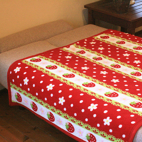 Red Strawberry Blanket