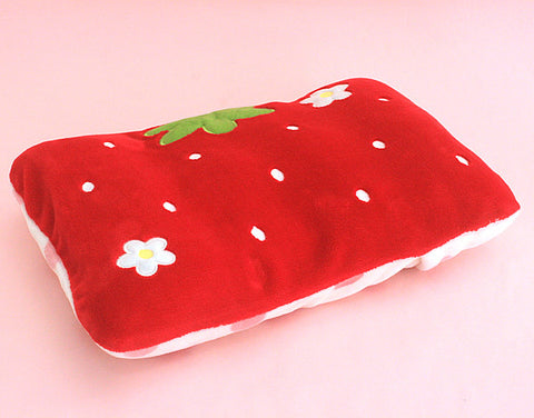 Red Strawberry Pillow