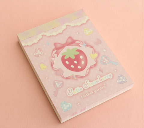 Strawberry Memo Pad (2 designs)