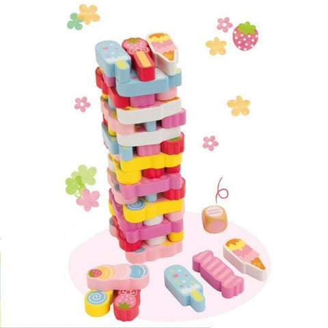 Strawberry Jenga Set