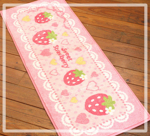Strawberry Kitchen Mat