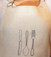Urru 100% Linen Apron Designed & Made in Ireland
