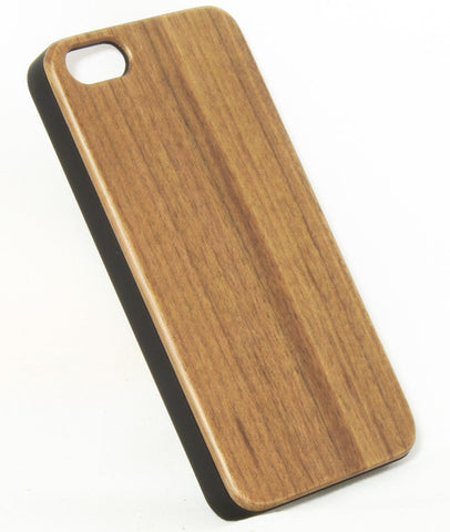 iPhone 5S /C Walnut wood Cover (Smart Series - Black)