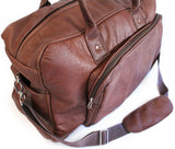 Lock Stock Co. Genuine leather duffel bag with extra shoulder strap - Churchill rust