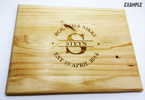 Personalised Hand-Made Bread Board