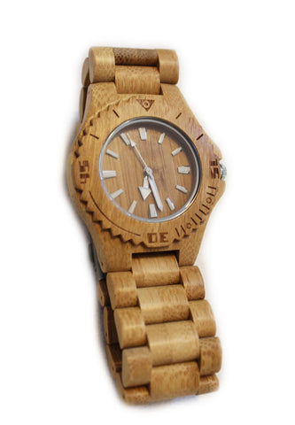 Bamboo wood watch - medium