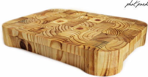 End Grain Large Timber  Cutting Board - round corners (rectangle)