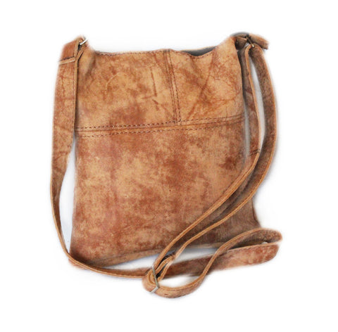 Lock Stock Co. 100% genuine leather ladies sling bag - buffed camel