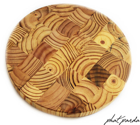 End Grain Timber Cheese Board - Round