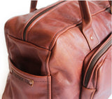 Lock Stock Co. Genuine leather duffel bag - Cherry Rust