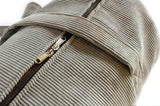 Corduroy traditional cylinder duffel bag - light Grey
