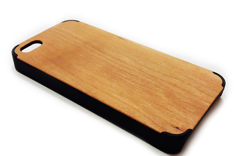 iPhone 5C Cherry Wood Cover (Smart Series - Black)