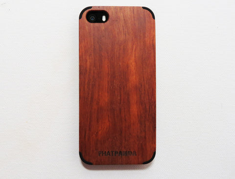 iPhone 5/5S Rosewood Cover (Black - Smart Series)